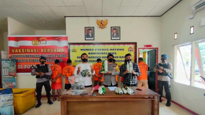 7 Pelaku Pengeboman Ikan di Midai Ditangkap Satpolairud Polres Natuna