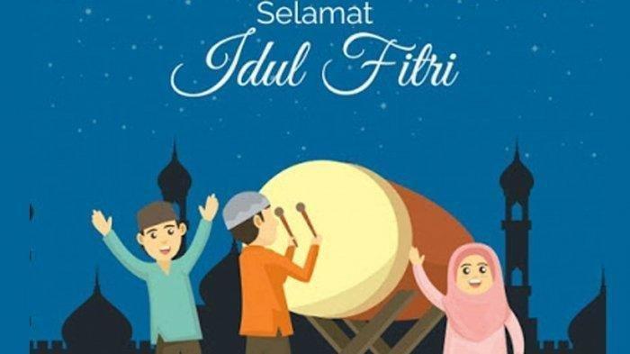 Kartu Lebaran Digital untuk Ucapan Selamat Idul Fitri 1442 H, Dikirim via WhatsApp