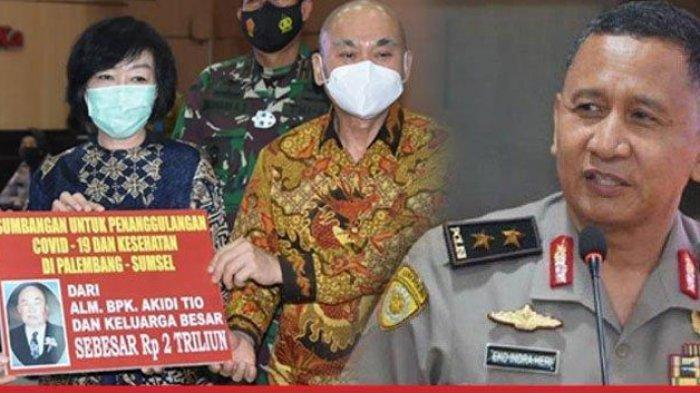 Kapolda SumselIrjen Eko Indra Heri Pastikan Uang Rp 2 Triliun Akidi Tio Tidak Ada