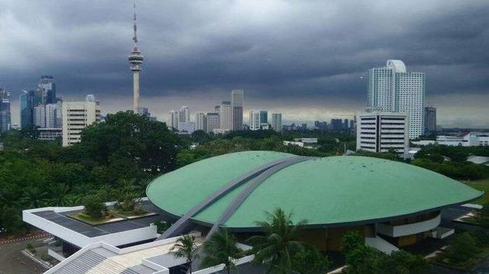 Pemandangan Kompleks Gedung DPR/MPR di Senayan, Jakarta