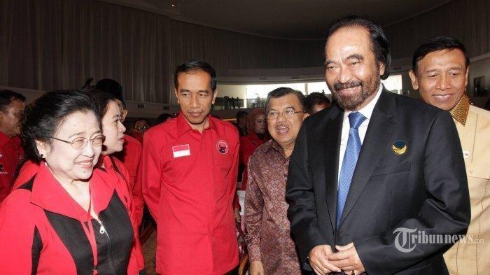 Megawati Minta Jatah Kursi Menteri Terbanyak untuk PDIP, Begini Reaksi Surya Paloh Mendengarnya