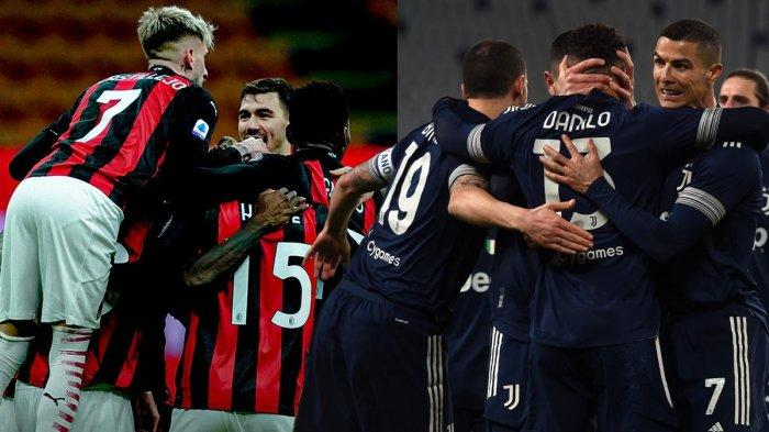 Jadwal Liga Italia Pekan 21, Fiorentina vs Inter, Juventus vs AS Roma, AC Milan vs Crotone
