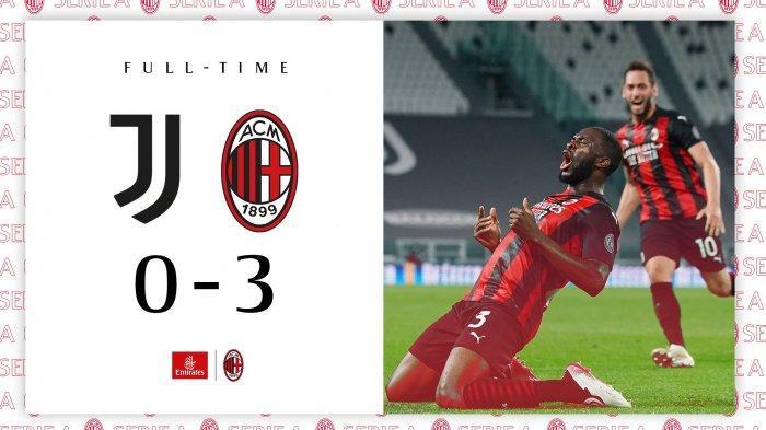 Hasil Juventus vs AC Milan, Ronaldo Dkk Tak Berdaya, Diawali Gol Brahim Diaz AC Milan Menang