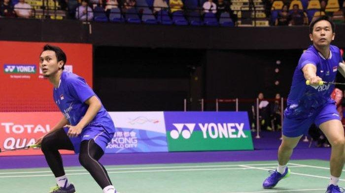 Hasil Indonesia Master 2019 - Ahsan/Hendra Lolos Perempatfinal Usai Menang atas Ganda Putra China