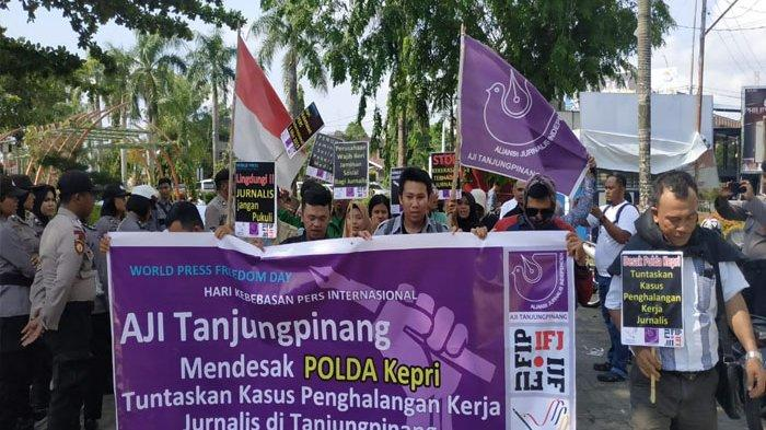 AJI Tanjungpinang Desak Polda Tuntaskan Kasus Kekerasan Terhadap Wartawan