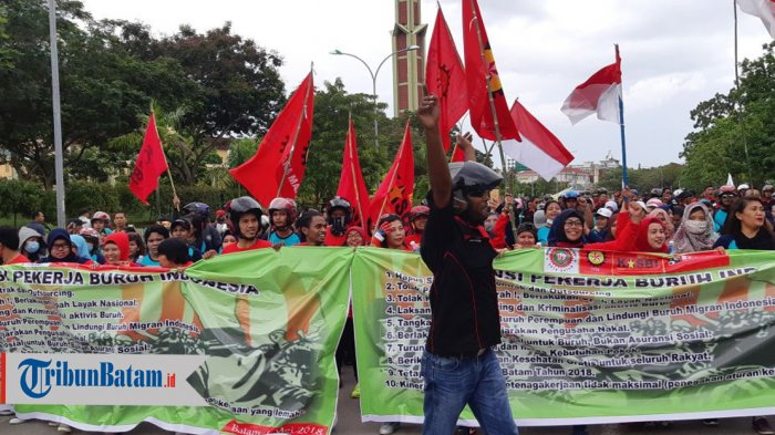Hari Buruh 2018. Ini Aspirasi yang Disuarakan Para Buruh di Batam: Ini Momen Bersatunya Buruh!
