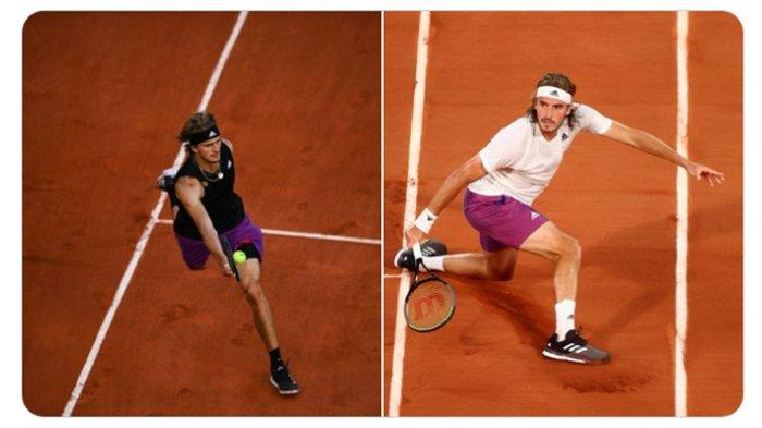Hasil Prancis Open 2021, Sama-sama Menang, Stefanos Tsitsipas vs Alexander Zverev di Semifinal