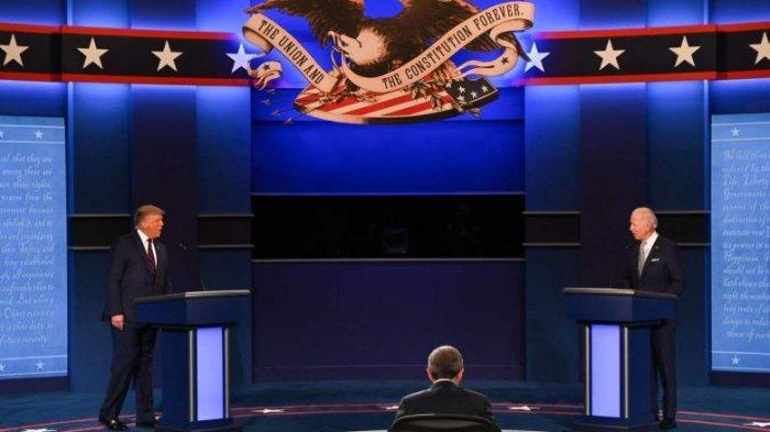 Debat Pilpres Amerika Serikat Joe Biden vs Donald Trump Pertama, Berubah Jadi Pertengkaran