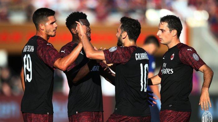 Hasil ICC 2018. AC Milan vs Barcelona - Gol Andre Silva di Ujung Laga, Menangkan AC Milan