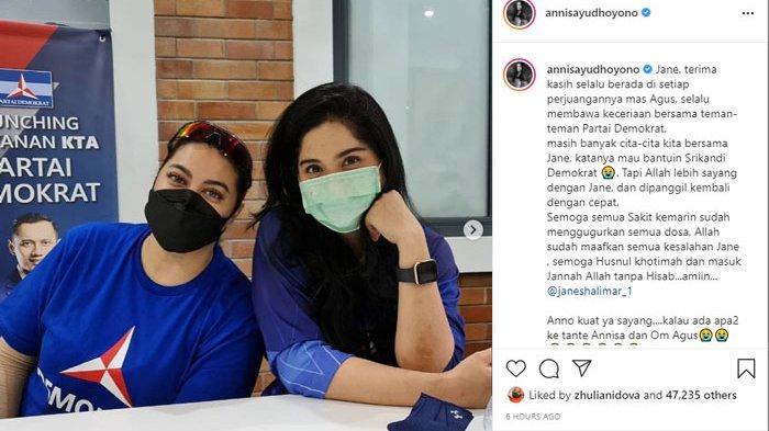 Janji Annisa Pohan untuk Zarno Setelah Jane Shalimar Meninggal: Ke Tante Annisa dan Om Agus