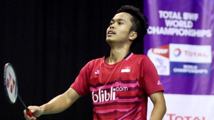Hasil Indonesia Master 2019 - Kalah dari Kento Momota, Anthony Ginting Gagal Melaju ke Semifinal