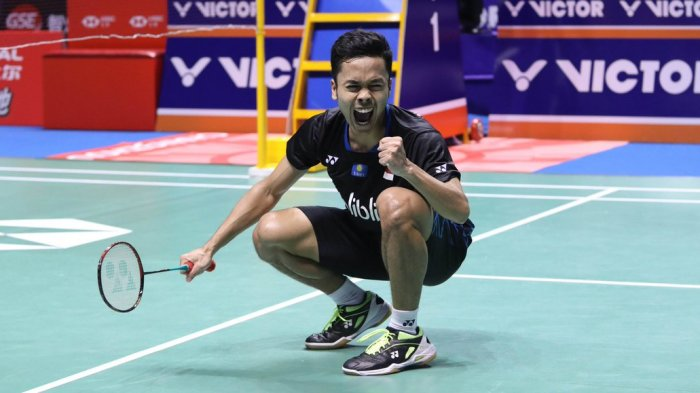 New Zealand Open, Anthony S Ginting vs Lin Dan