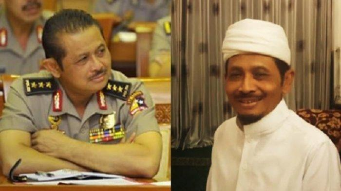 Foto kolase Komjen Pol (Purn) Anton Bachrul Alam saat masih aktif di kepolisian. Kini ia aktif di Jamaah Tabligh dan berdakwah.