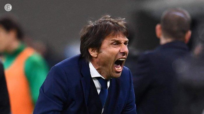 Pelatih Inter Milan Antonio Conte bicara soal kemenangan Inter atas Sassuolo, Kamis (8/4/2021)