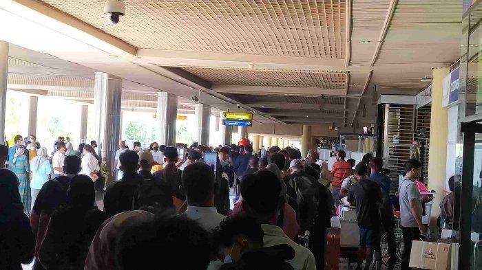 Kondisi di Bandara Hang Nadim Batam, Provinsi Kepri, Senin (3/5/2021).