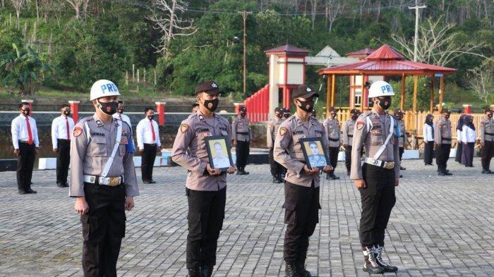 Apel PTDH di Polres Lingga Kecamatan Singkep, Kabupaten Lingga, Sanin (8/2/2021).