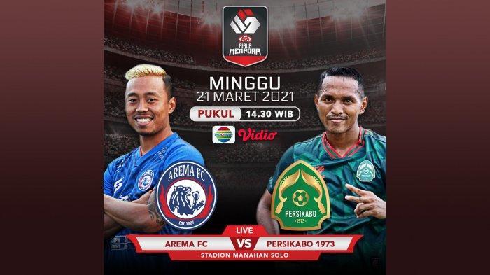 Link Live Streaming Arema FC vs Tira-Persikabo, Sedang Berlangsung di Indosiar