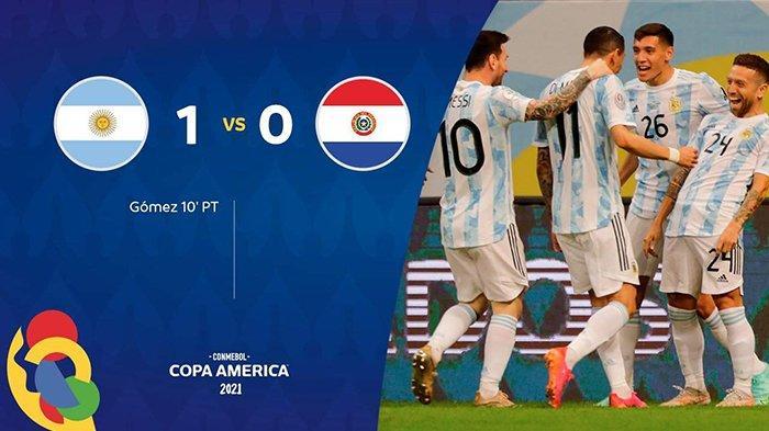 Hasil Copa America 2021 Argentina vs Paraguay, Papu Gomez Cetak Gol, Argentina Menang