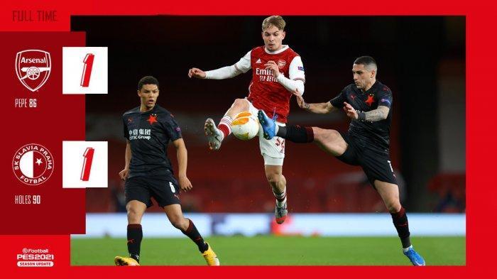 Hasil Arsenal vs Slavia Praha, Gol Nicolas Pepe Dibalas Gol Tomas Holes, Arsenal Imbang
