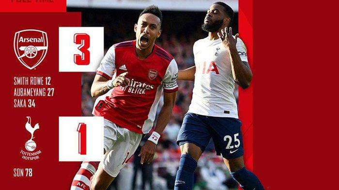 Hasil Arsenal vs Tottenham, Derby London Utara Milik Bukayo Saka Dkk, Arsenal Menang