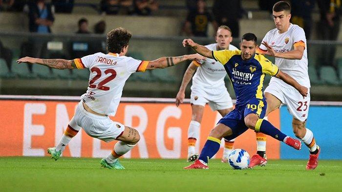 Hasil AS Roma Lawan Verona, Drama 5 Gol di Marcantonio Bentegodi, AS Roma Kalah