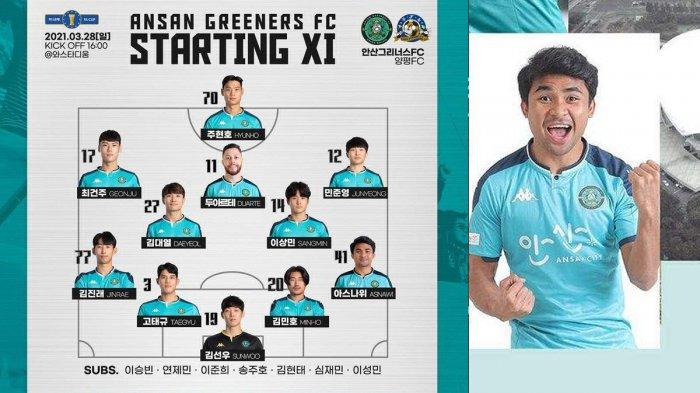 Link Live Streaming Yangpyeong vs Ansan Greeners, Asnawi Mangkualam Debut!