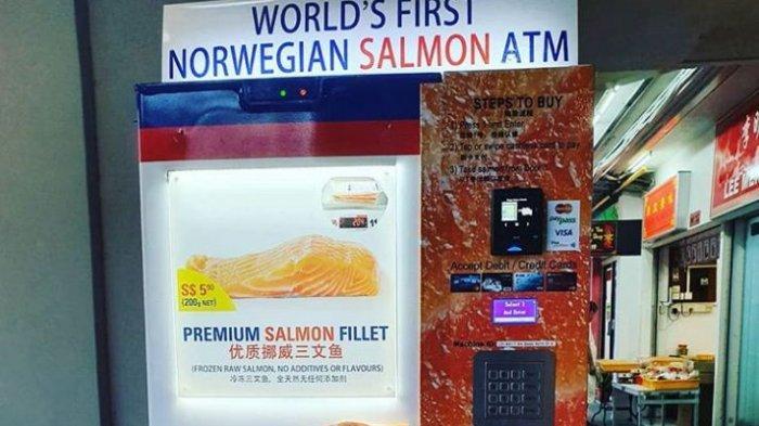 Singapura Miliki ATM Daging Salmon Pertama di Dunia, Catat Daftar Lokasinya