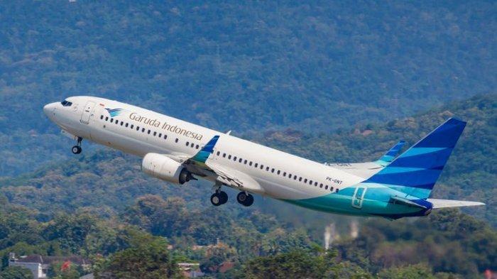 Ilustrasi pesawat maskapai penerbangan Garuda Indonesia. (SHUTTERSTOCK/LEONY EKA PRAKASA)