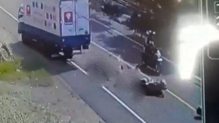 Kecelakaan Maut Hari Ini, Ayah dan Anak Tewas Terlindas Mobil Boks, Begini Kronologinya