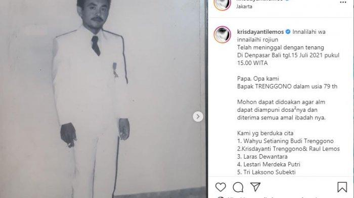 Ayah Krisdayanti dan Raul Lemos meninggal dunia
