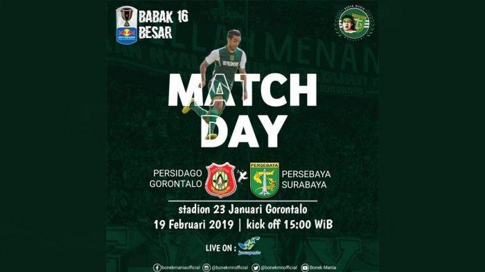 Link Live Streaming Persidago vs Persebaya Sore Ini Kick Off Jam 15.00 WIB, Live PSSI & Jawapos TV