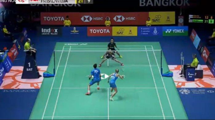 Link Live Streaming Thailand Open 2018. Set Pertama Pasangan Indonesia Hafiz/Gloria Berhasil Unggul