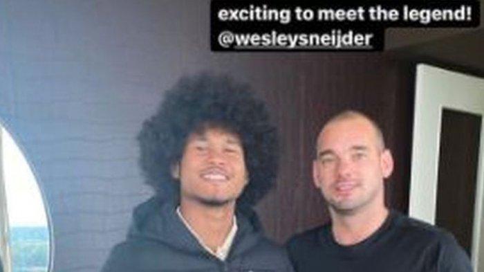 Cerita Bagus Kahfi yang Bikin Legenda Inter Milan Wesley Sneijder Kaget pada Dirinya