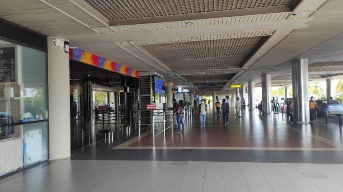 BANDARA HANG NADIM - Kondisi terminal kedatangan Bandara Hang Nadim Batam, Provinsi Kepri. Foto diambil belum lama ini.