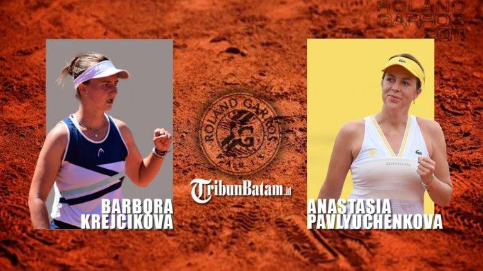 Hasil Semifinal Prancis Open 2021, Anastasia Pavlyuchenkova vs Barbora Krejcikova di Final