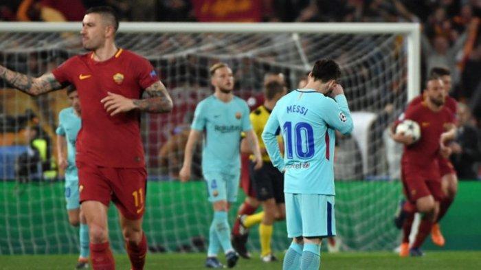 Tim yang Singkirkan Barcelona Selalu Capai Final Liga Champions. Tanda-tanda bagi AS Roma?