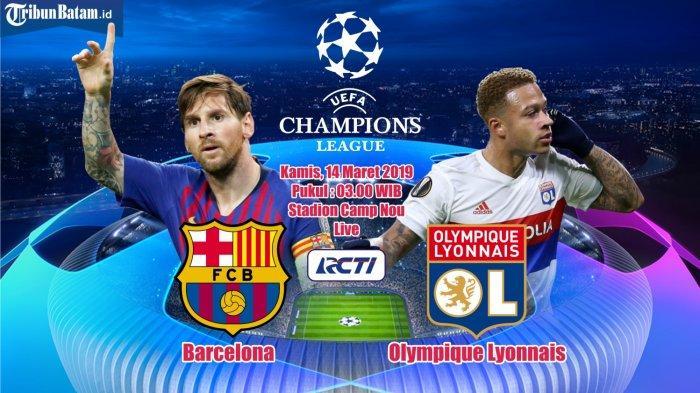Live Streaming Barcelona vs Lyon Jam 03.00 WIB - Barca Diunggulkan, Tapi Valverde Mengaku Takut