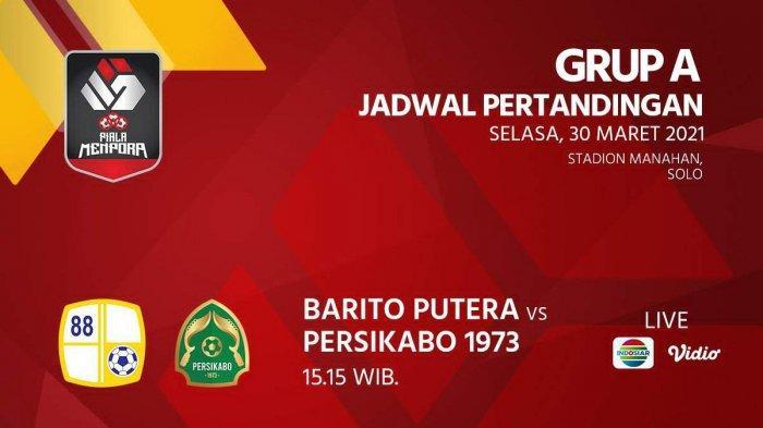 Jadwal Piala Menpora 2021 Barito Putera vs Persikabo Kick Off 15.15 WIB, Djanur: Incar Gol Cepat