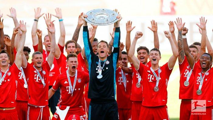 Klasemen Akhir Bundesliga Liga Jerman 2019 - 2020, Bayern Munchen Juara, Robert Lewandowski 34 Gol