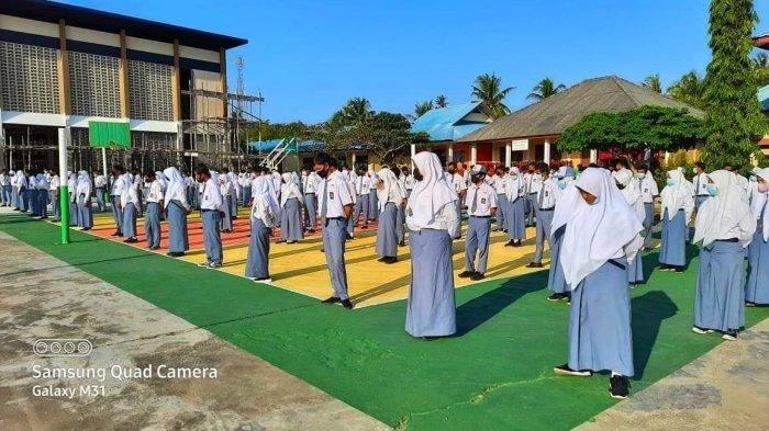 SMA di Lingga Mulai Belajar Tatap Muka, Kawal Ketat Protokol Kesehatan Cegah Covid-19