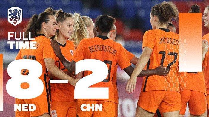 Hasil, Klasemen, Top Skor Sepakbola Wanita Olimpiade Tokyo 2020, Perempat Final: Belanda vs AS