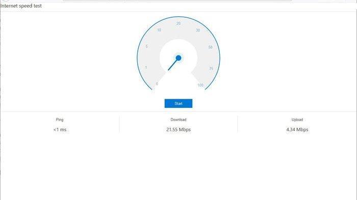 Bing Speed Test Widget