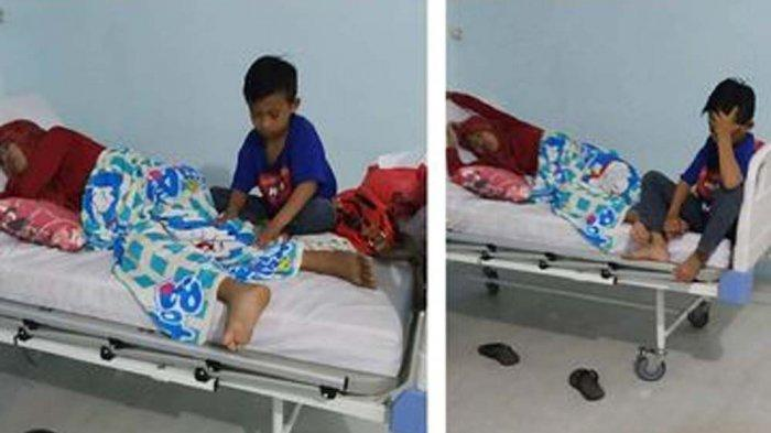 Viral, Anak Yatim 9 Tahun Antar Ibunya yang Sakit Ginjal Stadium Akhir ke Rumah Sakit Pakai Motor