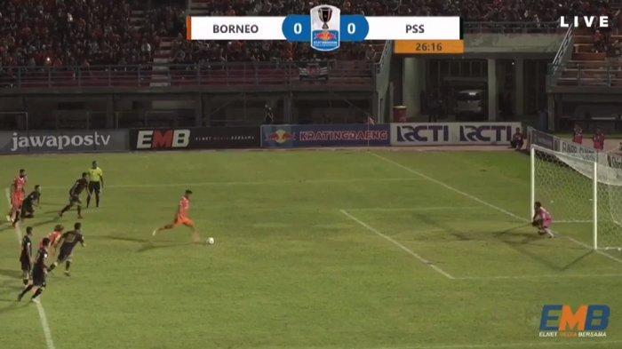 UPDATE! Gol Lerby Eliandry Bawa Borneo FC Unggul Sementara Atas PSS Sleman, Skor 1-0
