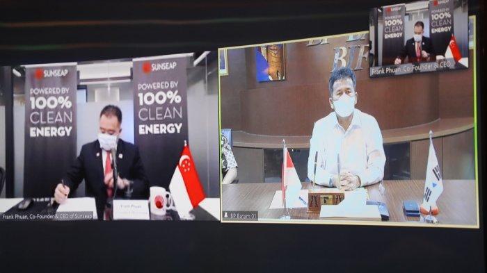 BP Batam dan Sunseap Group Pte Ltd Tandatangani MoU Panel Surya