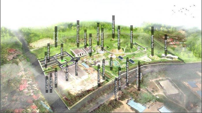 Gambar. Layout pembangunan Taman Rusa