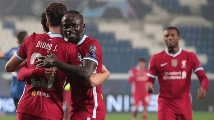 Hasil Liga Champions - Brace Diogo Jota Bawa Liverpool Ungguli Atalanta di Babak Pertama