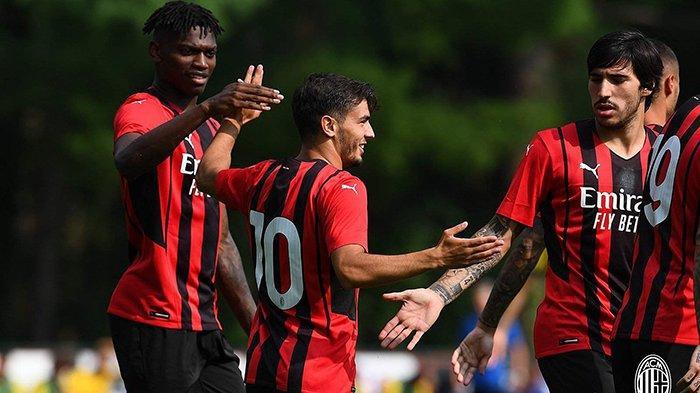 Hasil Ujicoba Pramusim Klub Liga Italia 2021-2022 AC Milan 5-0, Lazio 5-2, Napoli 1-0, Juventus 3-1