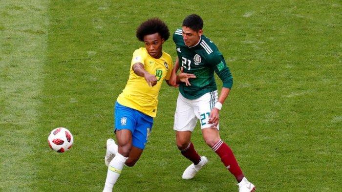 Brasil vs Meksiko - Neymar cs Sulit Tembus Pertahanan Lawan, Babak Pertama Masih Kacamata
