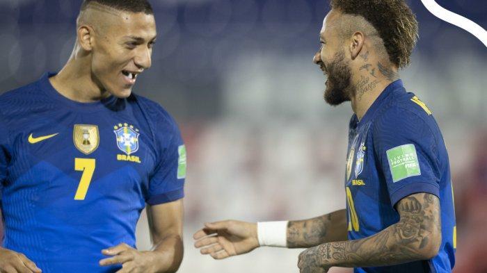 Hasil Paraguay vs Brazil, Neymar Cetak 1 Gol, 1 Assist, Brazil Menang